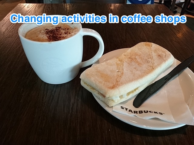 Changing world of coffee shop visits