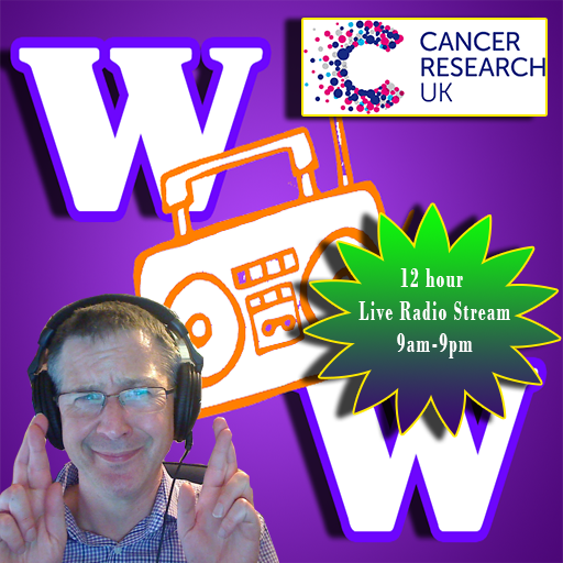 12 hour Live Charity Radio Stream for Cancer Research UK