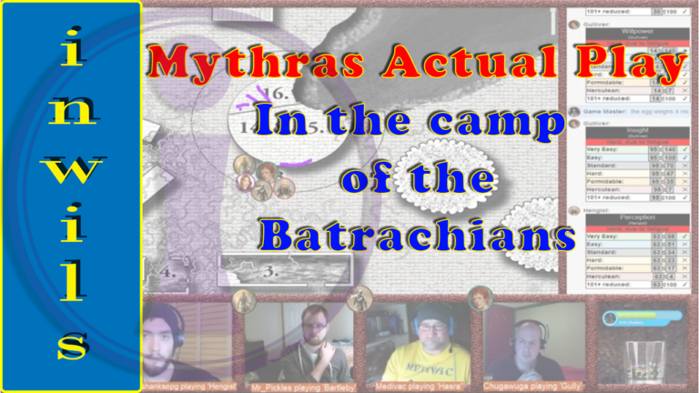 Mythras Actual Play – In the Tower of the Batrachians