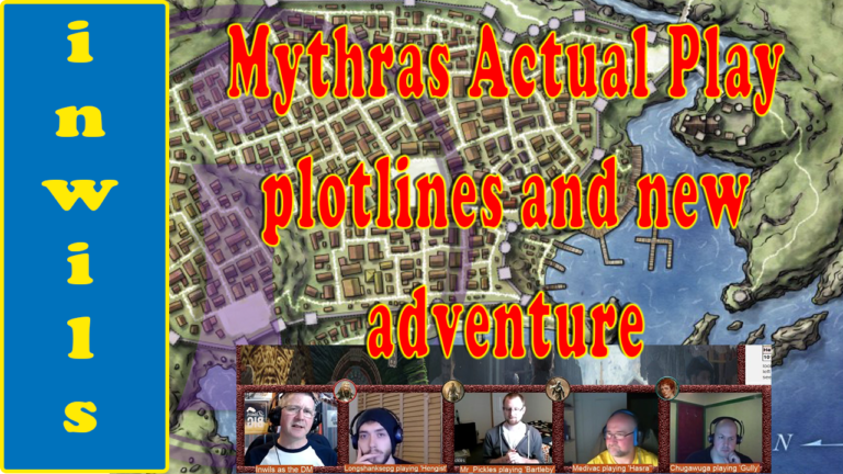 Mythras Actual Play – Personal Storylines and New Adventure