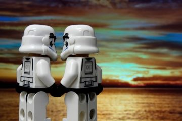 Storm Troopers holding hands