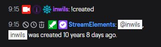chat message showing my 10 years